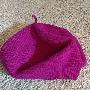 Coach pink beret hat OS